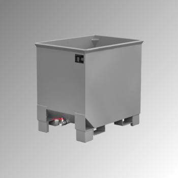 Spänekasten - 3-fach stapelbar - Volumen 300 l - Traglast 500 kg - 795 x 840 x 620 mm (HxBxT) - mausgrau