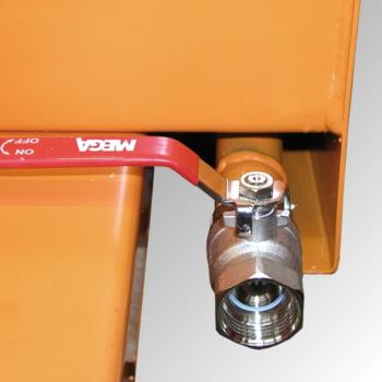 Späne-Kippbehälter für Routenzüge - Volumen 550 l - Traglast 1.000 kg - 880 x 875 x 1.230 mm (HxBxT) - mausgrau online kaufen - Verwendung 2