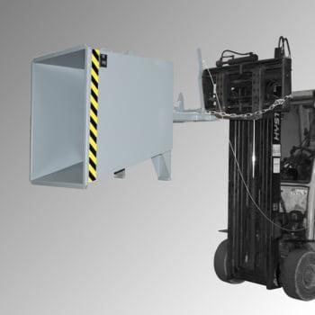 Späne-Kippbehälter für Routenzüge - Volumen 550 l - Traglast 1.000 kg - 880 x 875 x 1.230 mm (HxBxT) - mausgrau online kaufen - Verwendung 3