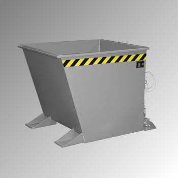Späne-Kippbehälter für Routenzüge - Volumen 550 l - Traglast 1.000 kg - 880 x 875 x 1.230 mm (HxBxT) - mausgrau online kaufen - Verwendung 0