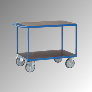 Fetra - Tischwagen - Siebdruckplatte - 600 kg - Ladefläche 600 x 1.000 mm - waagerechter Griff - 2 Etagen online kaufen - Verwendung 0