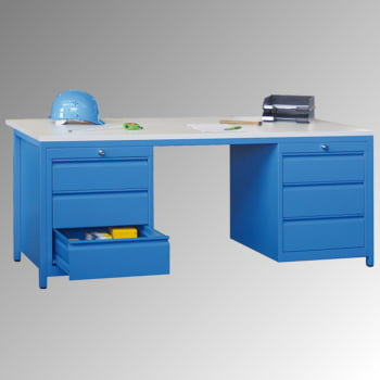 Beispielabbildung: Meistertisch, hier in enzianblau (RAL 5010)