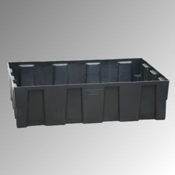 PE-Auffangwanne - 250 l - 600 kg - 330 x 1.205 x 805 mm - schwarz