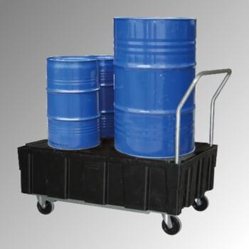 PE-Auffangwanne - fahrbar - 224 l - 600 kg - 1.040 x 1.205 x 805 mm - schwarz - PE-Gitterrost online kaufen - Verwendung 0