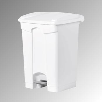 Wertstoffsammler aus Kunststoff - Volumen 45 l - 600 x 410 x 390 mm (HxBxT) - Behälter weiß - Deckel weiß