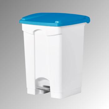 Wertstoffsammler aus Kunststoff - Volumen 45 l - 600 x 410 x 390 mm (HxBxT) - Behälter weiß - Deckel blau