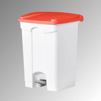 Wertstoffsammler aus Kunststoff - Volumen 45 l - 600 x 410 x 390 mm (HxBxT) - Behälter weiß - Deckel rot