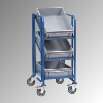 1.101 x 525 x 666 mm 250 kg Etagenwagen für 3 Eurokästen FETRA
