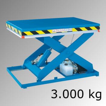 Scherenhubtisch - (BxL) 1.000 x 2.500 mm - Last 3.000 kg - Hub 350 - 1.950 mm