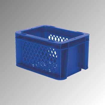 Eurobox - Eurokasten - Volumen 2 l - Boden und Wände durchbrochen - 120 x 100 x 200 mm (HxBxT) - VE 16 Stk. - gelb online kaufen - Verwendung 0