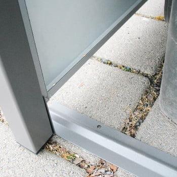 Mülltonnenverkleidung mit Pflanzdach - für 3 Tonnen - 2/3 Stanzung - 1.215 x 1.960 x 830 mm (HxBxT) - Korpus weißaluminium - Pfosten Eisenglimmer online kaufen - Verwendung 7