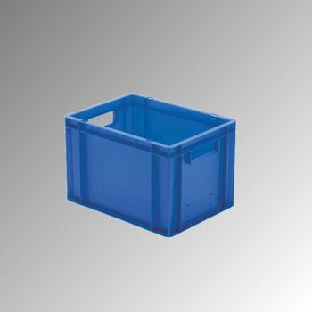 Eurobox - Eurokasten - Volumen 24 l - Boden geschlossen, Wände durchbrochen - 270 x 300 x 400 mm (HxBxT) - VE 4 Stk. - grau