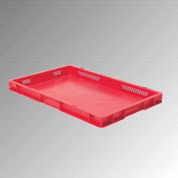 Eurobox - Eurokasten - Volumen 9,5 l - Boden geschlossen, Wände durchbrochen - 50 x 400 x 600 mm (HxBxT) - VE 2 Stk. - rot online kaufen - Verwendung 0