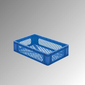Eurobox - Eurokasten - Volumen 26 l - Boden und Wände durchbrochen - 145 x 400 x 600 mm (HxBxT) - VE 2 Stk. - grün online kaufen - Verwendung 0