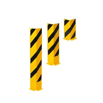 Anfahrschutz aus Stahl - Winkelprofil - 800 x 160 x 160 mm (HxBxT) - gelb/schwarz
