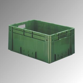 Schwerlast Eurobox - Eurokiste - Volumen 48 l - Boden und Wände geschlossen - 270 x 400 x 600 mm (HxBxT) - VE 2 Stk. - rot