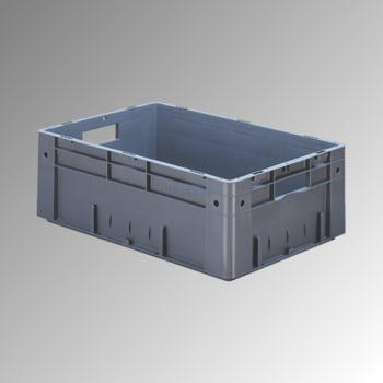 Schwerlast Eurobox - Eurokiste - Volumen 36 l - Boden und Wände geschlossen - 210 x 400 x 600 mm (HxBxT) - VE 2 Stk. - grau