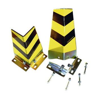 Ecken Anfahrschutz - Winkel-Profil - Höhe 400 mm - gelb/schwarz - Befestigungswinkel außen