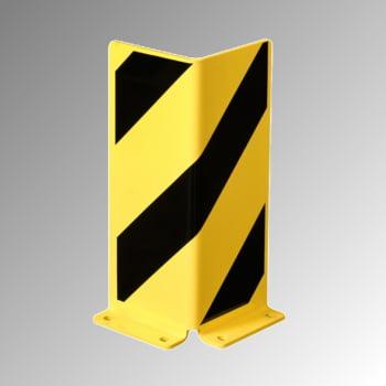 Anfahrschutz aus Stahl, 5 mm - Winkelprofil - 400 x 160 x 160 mm (HxBxT) - gelb/schwarz