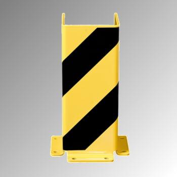Anfahrschutz aus Stahl, 6 mm - U-Profil - 400 x 160 x 160 mm (HxBxT) - gelb/schwarz