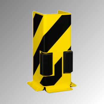 Anfahrschutz mit Leitrollen - U-Profil - Höhe 400 mm - gelb/schwarz