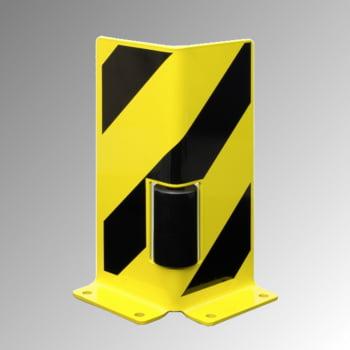 Anfahrschutz mit Leitrolle - Winkelprofil - Höhe 400 mm - gelb/schwarz