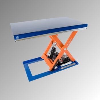 Robuster Profi Scherenhubtisch - Traglast 3.000 kg - max. Hub: 1.070 mm - 800 x 1.300 mm (BxT) - Hubzeit: 26 sec