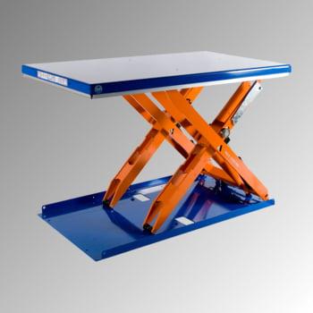Flachform Hubtisch - Traglast 1.000 kg - geschlossen - Fußschalter - 800 x 1.350 mm (BxT) - elektrohydraulisch