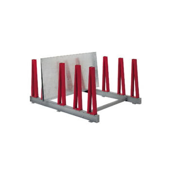 Plattenlager Regal - Anbauregal - 1 Fach - Fachbreite 200 mm - Fachlast 800 kg - 1.040 x 400 x 2.800 mm (HxBxT) - feuerrot