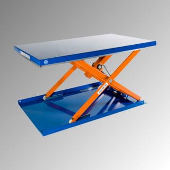 Flachform Hubtisch - Traglast 600 kg - geschlossen - Fußschalter - 900 x 1.500 mm (BxT) - elektrohydraulisch