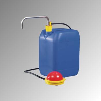Fußpumpe aus Edelstahl - Kanisterpumpe - Behälterpume - für schwer entzündliche Flüssigkeiten (VbF)