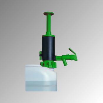 Abfüllpumpe - Transferpumpe - Dichtung aus FKM für leichte Säuren und Chemikalien - für Kanister und Fässer