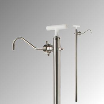Edelstahl Handpumpe für Fässer - 1-Zoll, G2-Zoll - für nahezu alle Flüssigkeiten