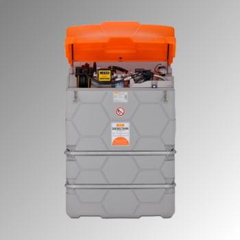 Mobile Outdoor Diesel Tankanlage mit Klappdeckel - Tankstation mit Zapfpistole und Schlauchaufroller - Volumen 1500 l online kaufen - Verwendung 0