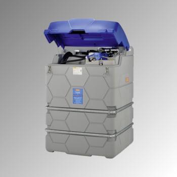 Mobile Outdoor AdBlue Tankanlage mit Klappdeckel - Tankstation mit Zapfpistole - Winterpaket - Volumen 1500 l