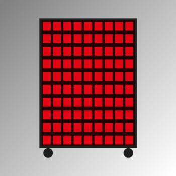 Mobiles Regal mit Sichtlagerkästen beidseitig - 180 Kästen - flexibles Stecksystem, robust und kippsicher - 1.450 x 1.010 x 540 mm (HxBxT)