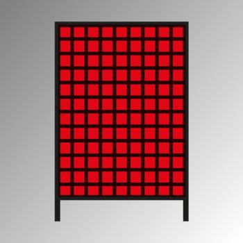 Stationäres Regal mit Sichtlagerkästen einseitig - 108 Kästen - flexibles Stecksystem - robust und kippsicher - 1.510 x 1.010 x 400 mm (HxBxT) online kaufen - Verwendung 0