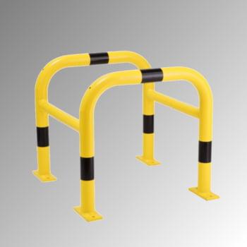 Säulen Rammschutz - Höhe 600 mm - quadratisch - Breite / Tiefe 620 mm - kunststoffbeschichtet - gelb / schwarz