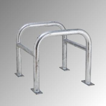 Säulen Rammschutz - Höhe 600 mm - quadratisch - Breite / Tiefe 720 mm- verzinkt