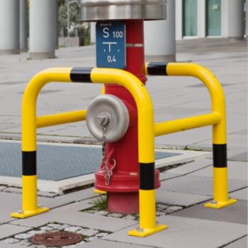 Säulen Rammschutz - Höhe 600 mm - quadratisch - Breite / Tiefe 720 mm - kunststoffbeschichtet - gelb / schwarz online kaufen - Verwendung 2