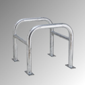 Säulen Rammschutz - Höhe 600 mm - quadratisch - Breite / Tiefe 620 mm- verzinkt