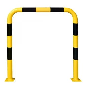 Rammschutz-Bügel Indoor, Anfahrschutz aus Gütestahl, hochbelastbar, 1.200 mm Höhe, 1.000 mm Breite, gelb kunststoffbeschichtet