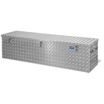 Riffelblech Aluminiumbox - Transportbehälter - Deckel Gasdruckdämpfer - Griffe und Verschlüsse aus Edelstahl - 470 l Vol. - 520 x 1.896 x 525 mm