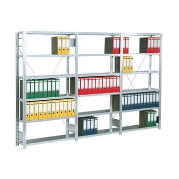 Büroregal m. Tiefenriegel - 2.000 x 1.005 x 626 mm - 6 Böden - verzinkt - Anbauregal online kaufen - Verwendung 0