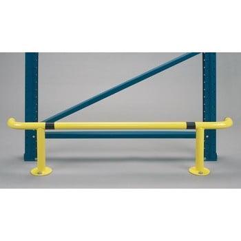 Rammschutz für Palettenregale, für den Innenbereich, Anfahrschutz aus Stahl, 300 mm Höhe, 1.250 mm Breite, Durchmesser 42,4 mm