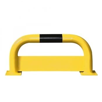 Rammschutz-Bügel mit Unterfahrschutz, Anfahrschutz aus Gütestahl, hochbelastbar, 750 mm Breite, 350 mm Höhe, gelb kunststoffbeschichtet