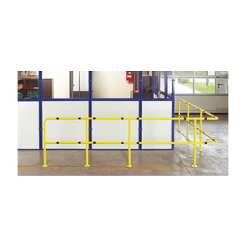 Gerade 1.000 mm für Rammschutz Geländer System Flex - Indoor Baukastensystem - Anfahrschutz aus Stahl - sichert Wege und Bereiche - pulverbeschichtet online kaufen - Verwendung 0