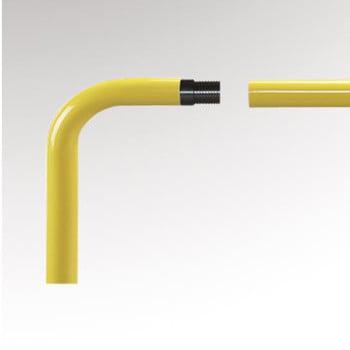 Bogen 90 Grad für Rammschutz Geländer System Flex - Outdoor Baukastensystem - Anfahrschutz aus Stahl - sichert Wege und Bereiche - zinkgelb online kaufen - Verwendung 0