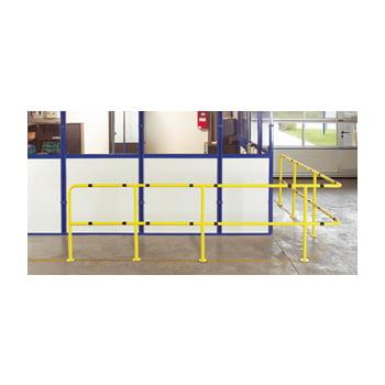 Bogen 90 Grad für Rammschutz Geländer System Flex - Outdoor Baukastensystem - Anfahrschutz aus Stahl - sichert Wege und Bereiche - zinkgelb online kaufen - Verwendung 2