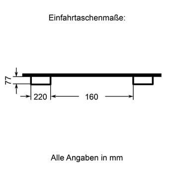 Lastarm - Länge 1.500 mm - Traglast bis zu 1.000 kg - enzianblau online kaufen - Verwendung 3